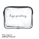 Customized packaging clear plastic zipper lock soft vinyl PVC cosmetic bag