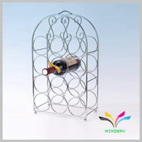 High quality best selling from China decorative unique wine bottle display rack antique metal beer glass rack