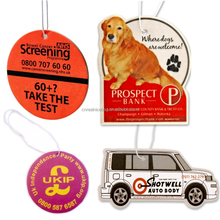 OEM auto custom Cotton Paper Air Freshener,hanging perfume card,fragrance card