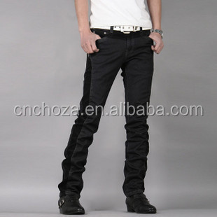 Z10282A EUROPEAN HIGH END YOUNG MEN'S BODYSUIT PANTS CORDUROY JOINING JEAN FASHION PANTS