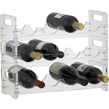 Bar Bottle Storage Holder Kitchen Wall Decor Acrylic Wine Stopper Display Rack