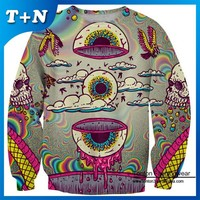 sublimation crewneck custom all over print sweatshirt