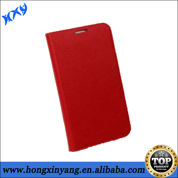 Hot selling stand wallet leather flip case for Samsung Galaxy Note 2,Mobile phone cases with Credit card slots.