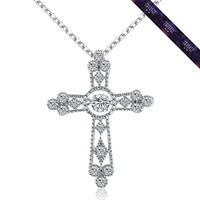 JP0090- New Design 925 Silver Cross Necklace Pendant Online shop China
