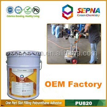 A professional grade Color grey OEM Polyurethane Self-Leveling reservoirs concrete sealer