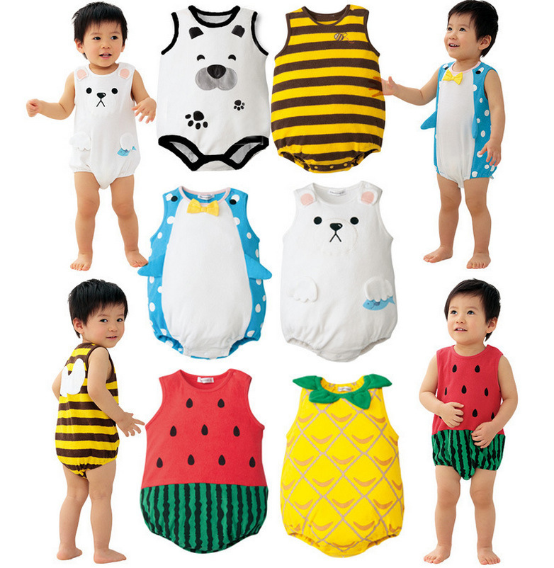 Wholesale 11 Colors Lovely Boy Suit Pure Cotton Baby Dress Child Clothes Free Shipping Newborn Baby Onesie