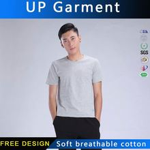 UP Garment custom logo shirt vertical striped men t shirt