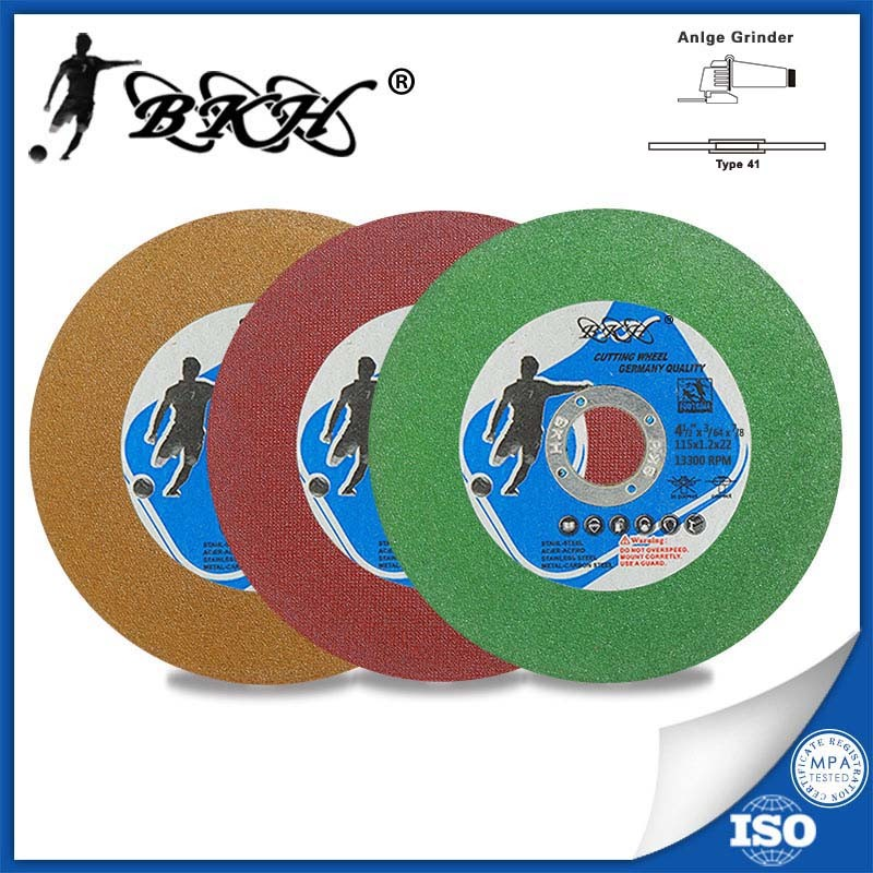 T41 4.5 inch resin bond angle grinder abrasive cutting discs for inox