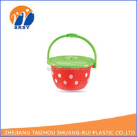 2015 NEW colorfor portable plastic bucket, water pail, bucket hat carry on recycled