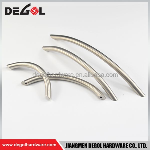 Wholesale china stainless steel curved cabinet wardrobe sliding closet door handles pictures