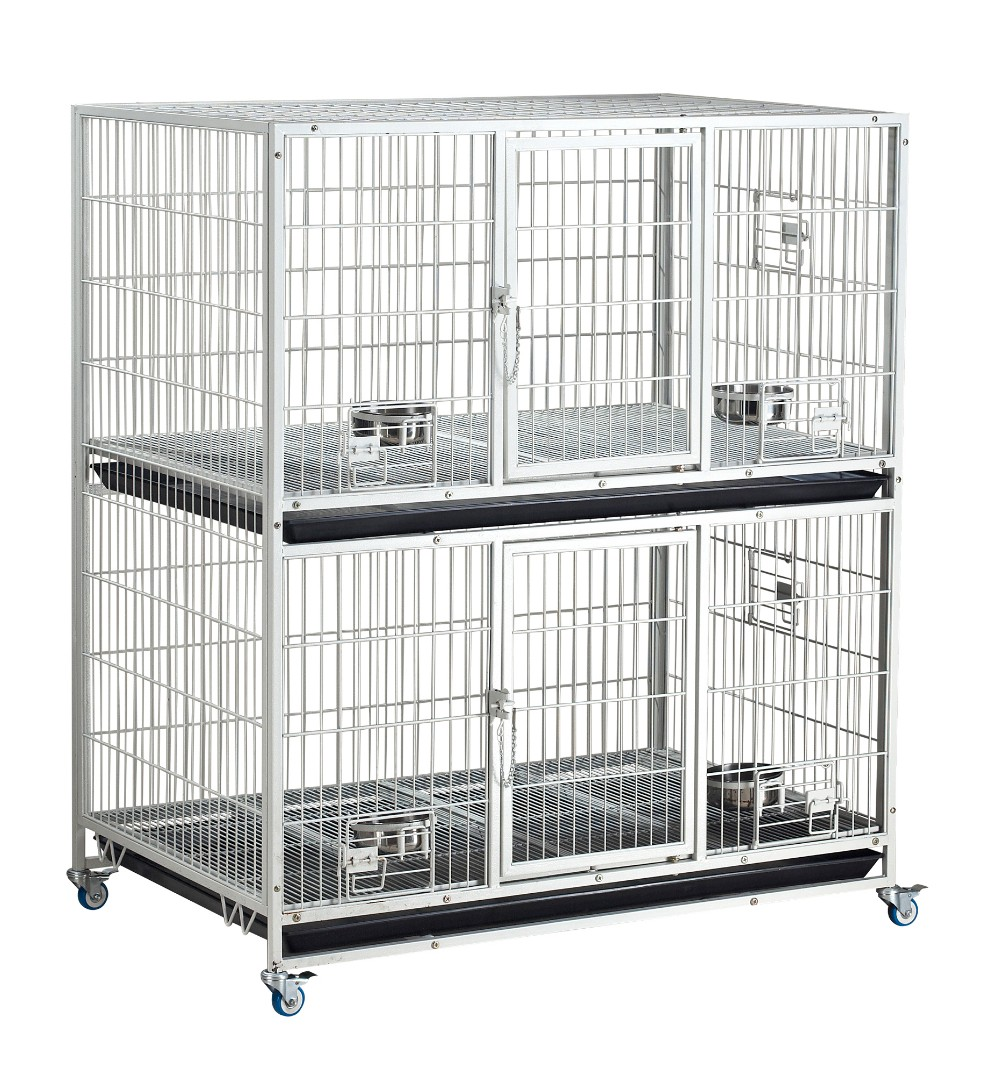 D192-series white Double dog cage manufacturers wholesale