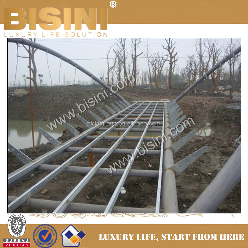Design and Construction for Steel Structure Bridge, BISINI Easy Fast Installation Inland River Landscape Bridge (BF08-Y10046)