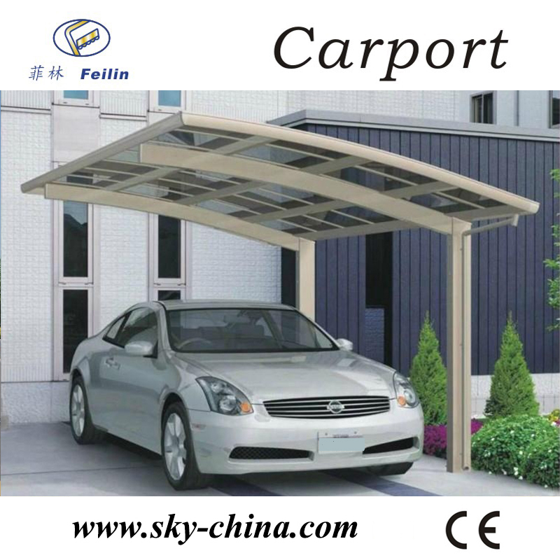 Durable single metal carport for car shed