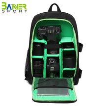 Large capacity waterproof camera backpack camera bag case for DSLR Coolpix Powershot Mirrorless
