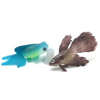 Simulation Goldfish/Betta Fish Aquarium Decorations with Sucker Cup for Fish Tank