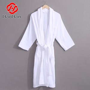 For Woman 100%Cotton Washable White High quality Model Bathrobe