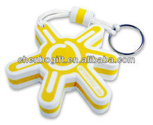 Foam floating keychains, eva float keychains , sponge foam keychain