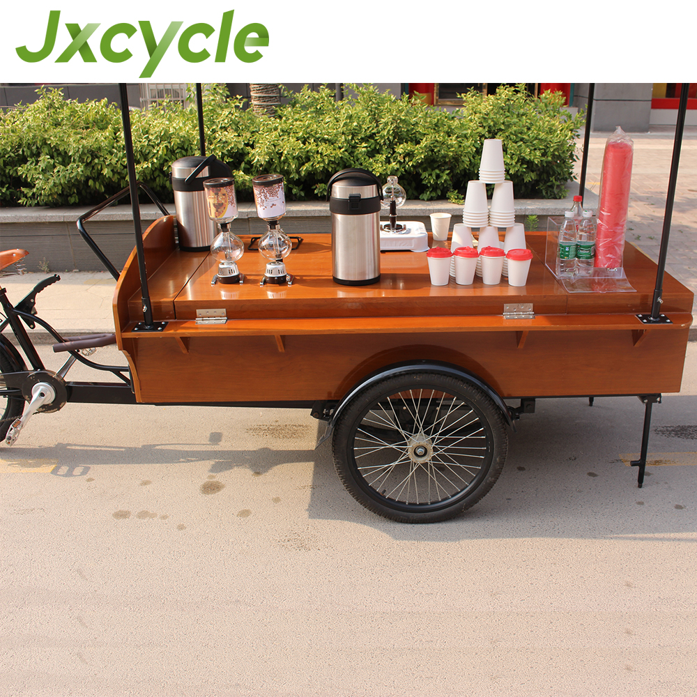 wood food service cart