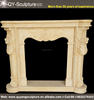 Artificial Marble Fireplace Surround Hand Carved Marble Fireplace Mantel For Sale