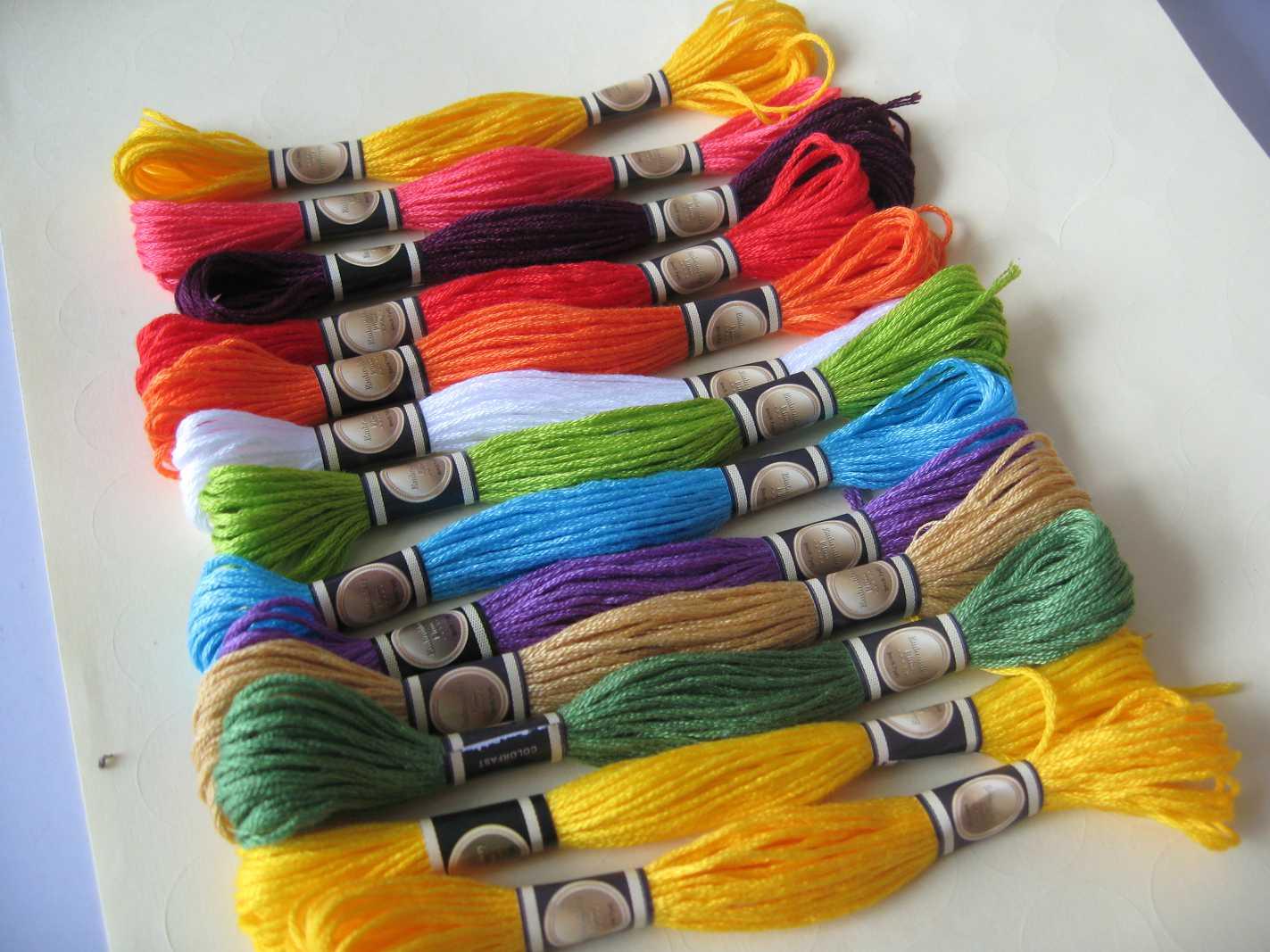 Для вышивки крестом нитки
