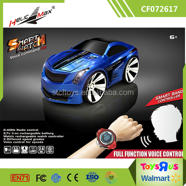 Voice Command RC Car Rechargeable 6CH Smart Watch Radio Control Creative Voice Activated Racing Cars 2.4 Ghz Mini RC Car