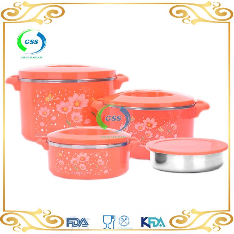 heat retaining travel stainless steel food containers with lids