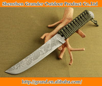 Ripe Handle Tactical Survival Knife 58HRC Hunting Camping Utility Knife 7Cr17Mov Steel DREAM5157