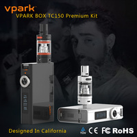Vpark 150w new ecig 2016 vape mod temperature control box mod premium kit ecig mods fit 0.1ohm nickel 200 tank atomizer