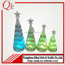 Cheap wholesale glass christmas tree for holiday decoration