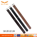 Wholesale Universal Leather Strap Black Brown Strap Custom Watch Band Leather Thin