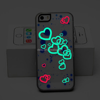 Noctilucent Night Glow Bumper Case for iphone 5 glowing silicone phone case