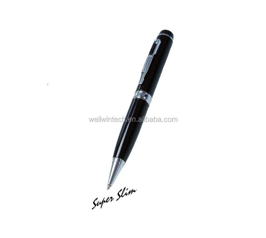 HD 720P Pen Camera 1280X720P video Audio hidden Camera pen Mini DVR With Lens Cover