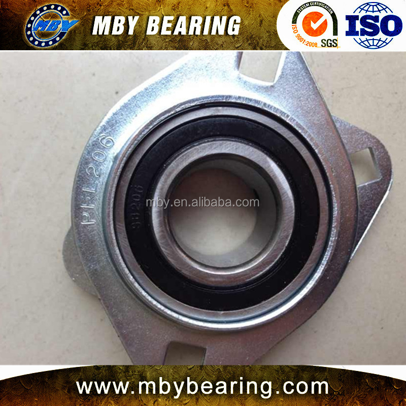 China OEM SBPFL 205 205-14 205-15 bearing SB 205 Pressed steel housing units