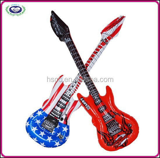 Wholesale cheap supplies party PVC inflatable toys custom inflatable guitar Festival toys for kids