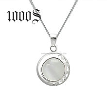 White Cat Eye Jade Pendant New Design Christmas Gift 925 Sterling Jewelry Wholesale