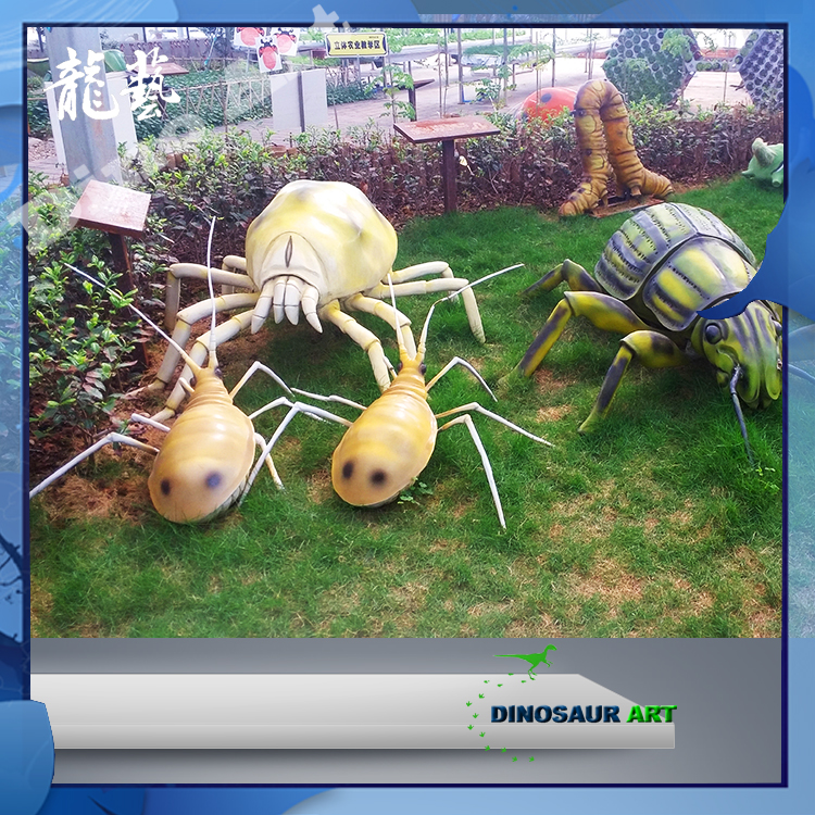 Sichuan amusement park equipment animated model fiberglass insects for sale