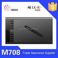 Ugee M708 drawing tablet 10 inch graphics tablet