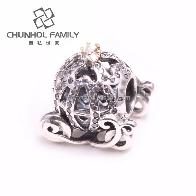 China wholesale European 925 sterling silver charm pumpkin couch charm for women bracelet CHM0033