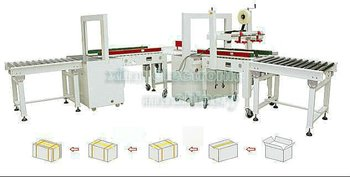 CPL-02 Automatic Box Taping And Strapping Line