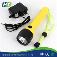 Rechargeable Led Flashlight With 2200mah Power Bank Ultra Bright