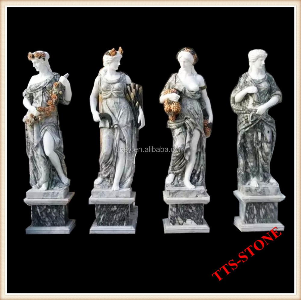 Large marble four season goddess statue sculpture