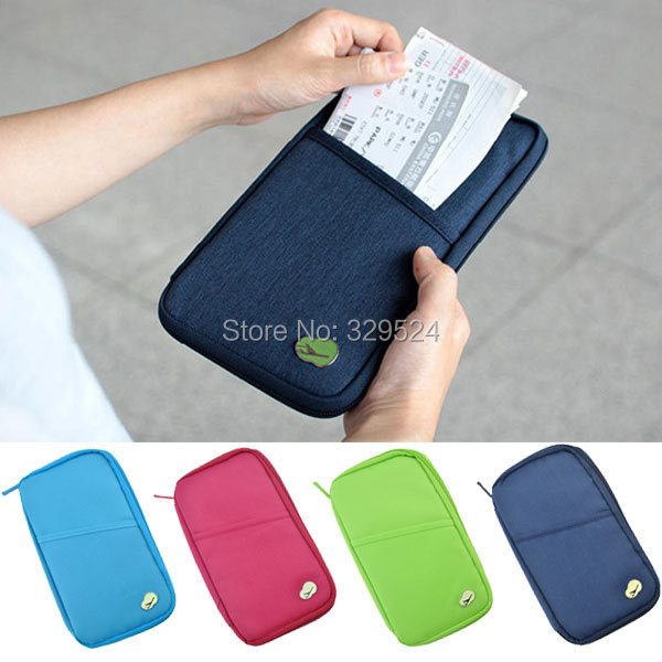 High Quality Multifunctional Nylon Men and Women Travel Accessories Solid Passport Wallets