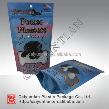 custom high quality pet food packaging bag three side sealing zipper bag pouch& stand up zipper bag flat bottom bag