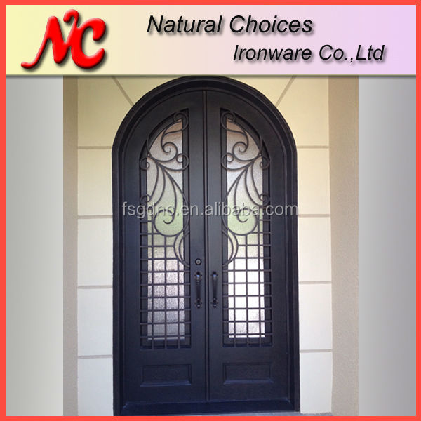 Arch double french entry doors