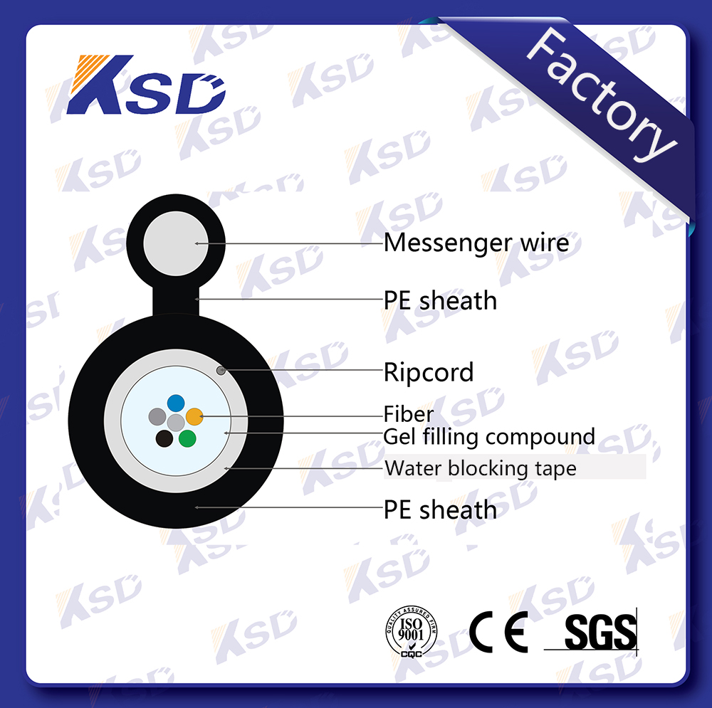 Armored Gytc8a/gytc8y/gytc8s/gyxtc8a/gyxtc8y 6 Core Fiber Optic Cable G652 Figure 8