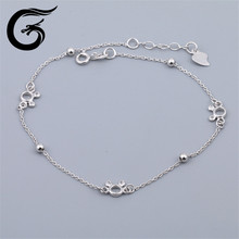 E Fashion 925 silver heart Indian anklet jewelry