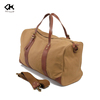 2016Hot new design high quality large capacity Canvas Gym Bag, travel bag with genuine leather