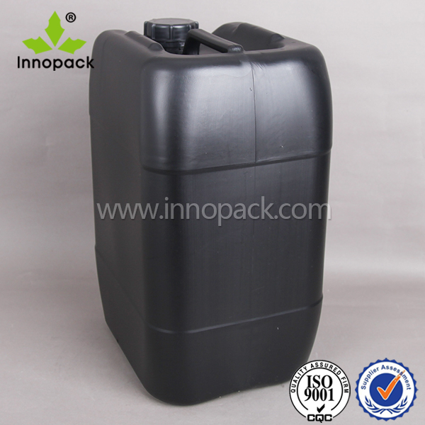 10L HDPE Plastic Jerry Can With Screw Cap with measurement