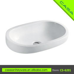CS-6201 Public places oval ceramic art small wash basin dealer
