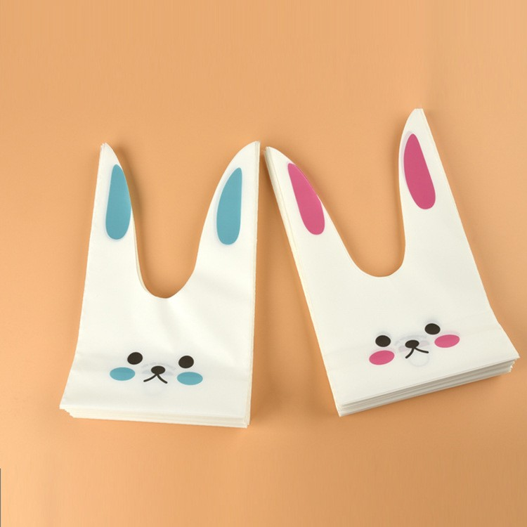 Cute rabbit ear Candy Bag cookies bags snack bags